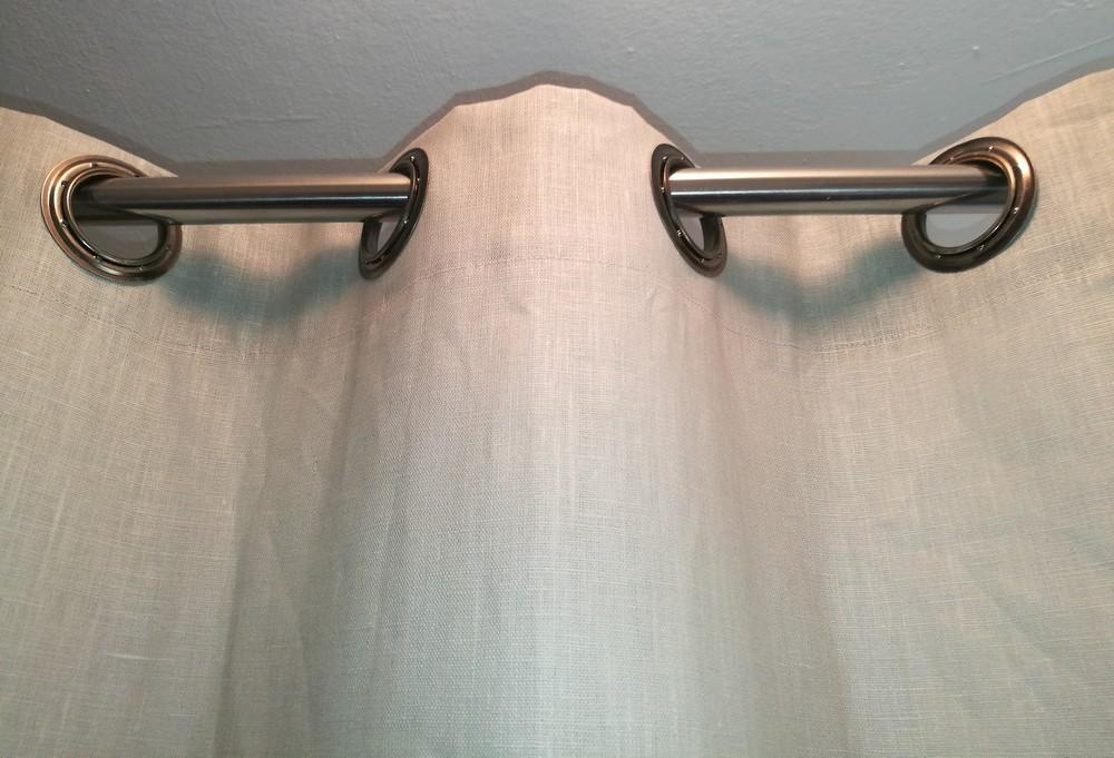 extravaganter duschvorhang aus leinen mit sen sr review. Black Bedroom Furniture Sets. Home Design Ideas