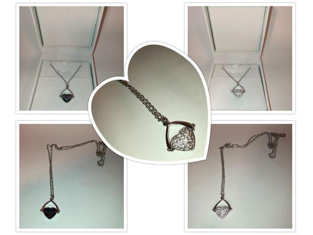Halskette mit Swarovski Stein und Kristalle von J.Nina
